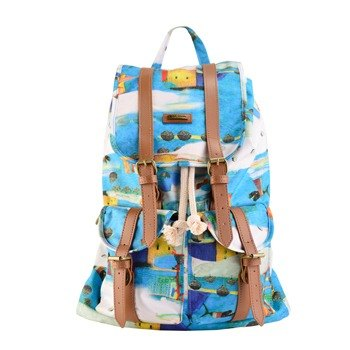 SOLUNA [ SAIMIHO Series ] Premium Drawstring Backpack(Blue)