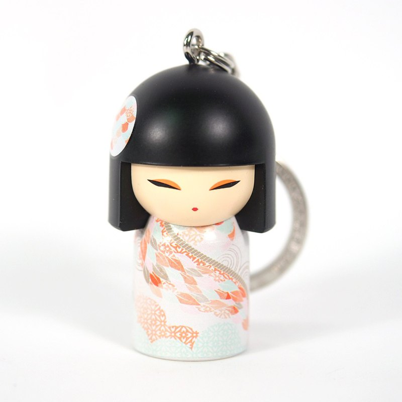Key ring - Kome is determined to be priceless [Kimmidoll and Fu doll key ring]