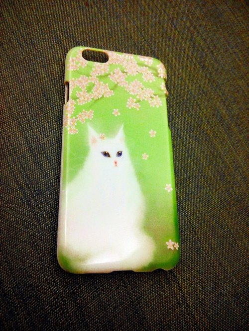 David painted cherry cat cat _ _ Limited Phone Case iPhone i5.i6s, i6splus / Android Samsung Samsung, HTC, Sony designer handsets shell / protective cover / kitty cat phone shell