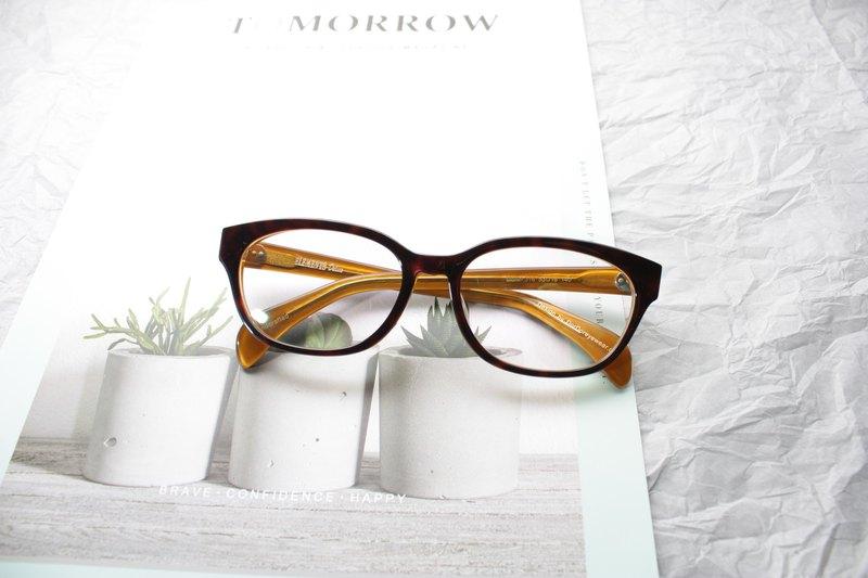 玳瑁雙色威靈頓款日本手造眼鏡框 亞洲面型設計