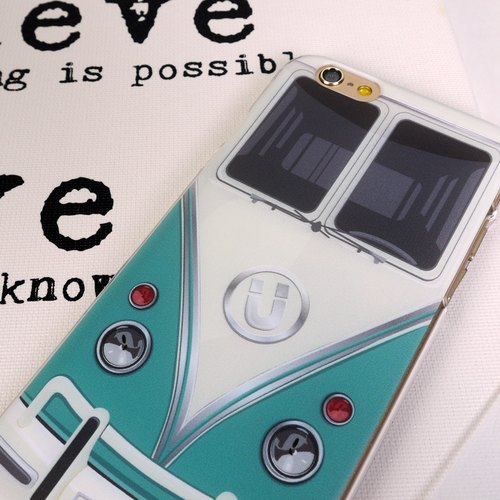 Ultra Bus Cyan Print Soft / Hard Case for iPhone X,  iPhone 8,  iPhone 8 Plus,  iPhone 7 case, iPhone 7 Plus case, iPhone 6/6S, iPhone 6/6S Plus, Samsung Galaxy Note 7 case, Note 5 case, S7 Edge case, S7 case