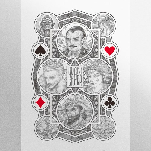 """Four kingdom card"" 4KINGDOMS - illustration creation Poker"