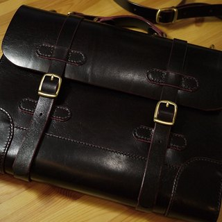 Leather Satchel 小島皮革書包系列 no.02 # UniqueSeries