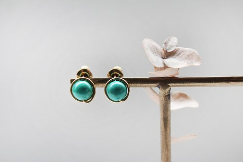 【Turquoise】classic earring (Customizable clip-on)