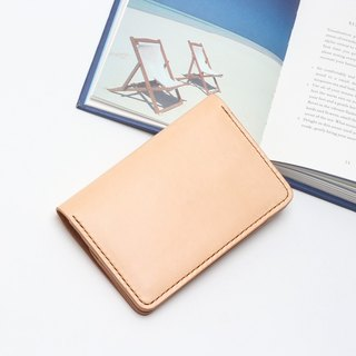 Minimal primary color yak leather handmade passport holder