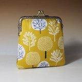 復古方形口金包/零錢包+票卡收納包 *一片森林*