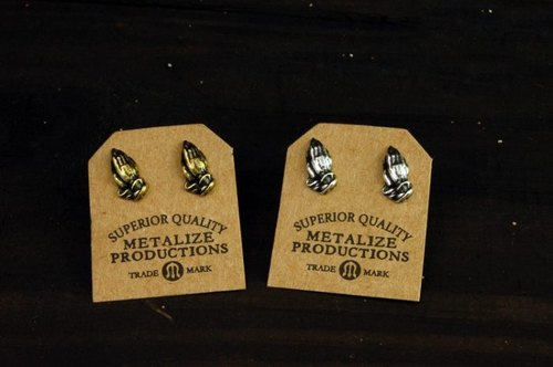 "[METALIZE] ""Pray Hand"" Earrings Prayer Earrings"