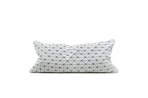 Geo Origami pillow black and white S