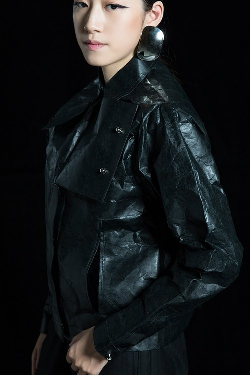MINUS STUDIO independent designer brand [SECOND] series of special paper jacket black models