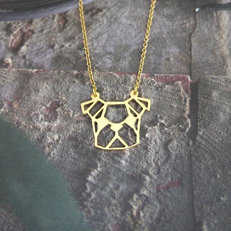 French Bulldog, Geometric Dog Necklace, Pet Jewelry, Dog memorial, Dog gifts