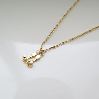 Little spoon and fork (K gold plated necklace) - Cpercent handmade jewelry