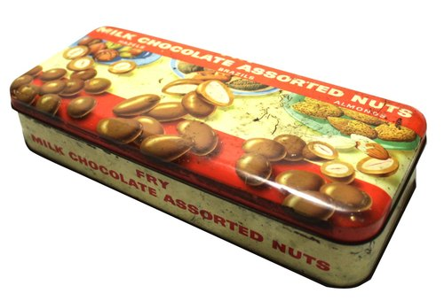 Old tin chocolate products