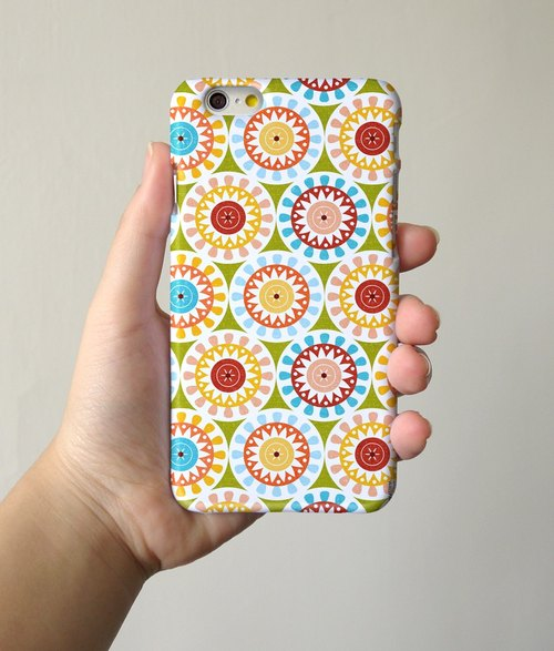 Mandala Colorful Floral pattern 3D Full Wrap Phone Case, available for  iPhone 7, iPhone 7 Plus, iPhone 6s, iPhone 6s Plus, iPhone 5/5s, iPhone 5c, iPhone 4/4s, Samsung Galaxy S7, S7 Edge, S6 Edge Plus, S6, S6 Edge, S5 S4 S3  Samsung Galaxy Note 5, Note 4,
