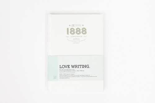 Inkfool 1888 Conqueror Notebook (White)