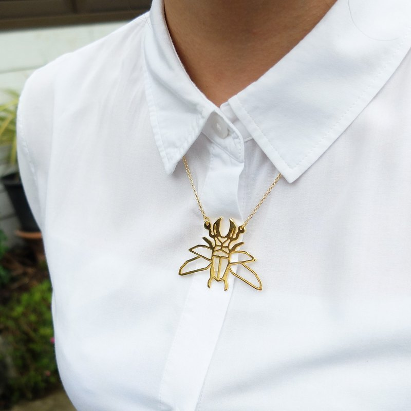Glorikami Stag Beetle Origami Necklace