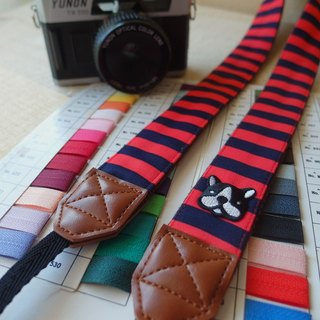 HiDots go travel camera straps (red and blue stripes * Act bucket)