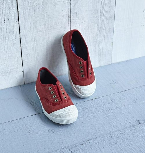 FREE (children's shoes) Kyoto Red (JAP19.0 = EUR31 left) Family fun Simple Canvas / Canvas shoes / Lazy / casual shoes National casual shoes Taiwan good product Southgate Nangang port