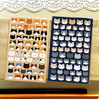 Cat Face Stickers 2pcs. / 3pcs.