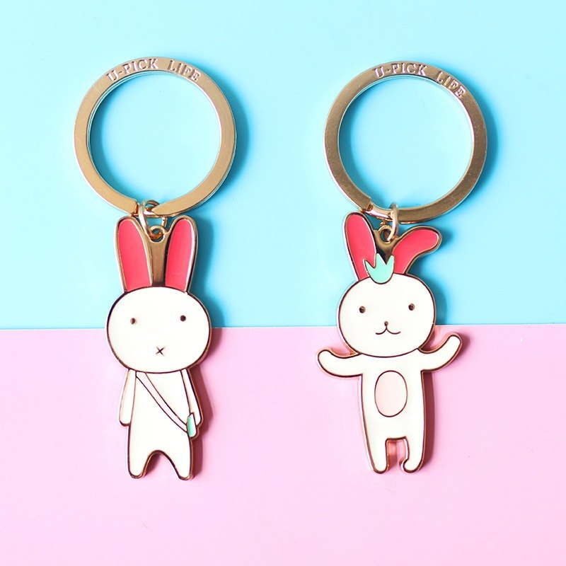 U-PICK original product life Rabbit series keychain creative couple keychain car key chain key ring