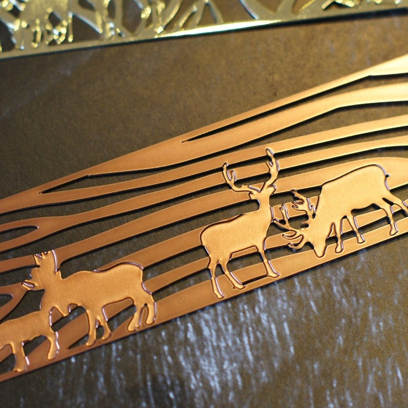 Good co Court - metal bookmark animal home - Rose Gold