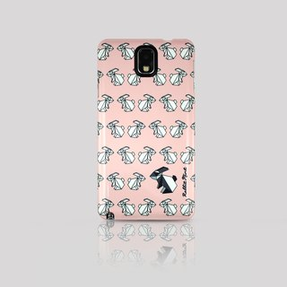(Rabbit Mint) Mint Rabbit Phone Case - Pink Origami Rabbit Series - Note 3 (P00070)