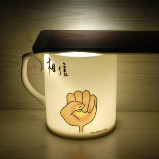 [Bone china mug] believe that (custom)