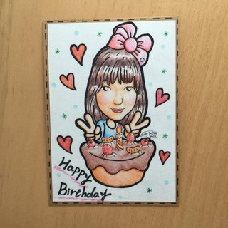 Cha mimi. unique. Only for you hand-painted portrait single color - custom area