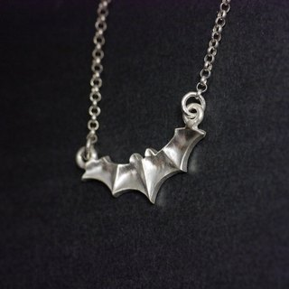 OH MY GOD! Halloween Bat Necklace Christmas Gift 925 Sterling Silver Handmade