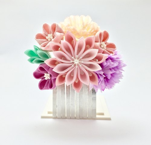【】 Sang】 【Spring 8th Chrysanthemum Chun. Japanese zu ma late fine hair accessories Japanese cloth flowers. Wind flower hairpin. Kimono bathrobe hair accessories