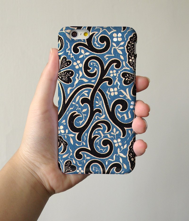 Blue ornament 43  3D Full Wrap Phone Case, available for  iPhone 7, iPhone 7 Plus, iPhone 6s, iPhone 6s Plus, iPhone 5/5s, iPhone 5c, iPhone 4/4s, Samsung Galaxy S7, S7 Edge, S6 Edge Plus, S6, S6 Edge, S5 S4 S3  Samsung Galaxy Note 5, Note 4, Note 3,  Note