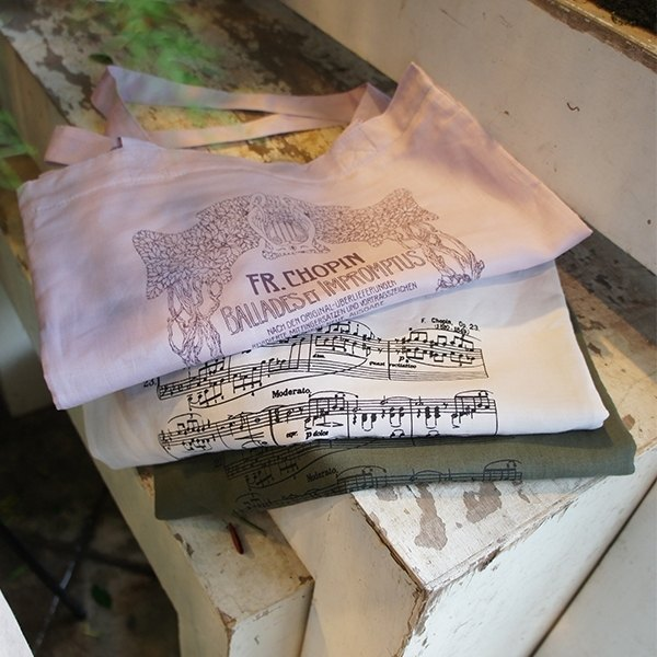 MyZakka} FUGUE_ to first Chopin Ballades Chopin offerings _ Limited Collector's birth 200 years _ classical sheet music section portable shoulder bag sack