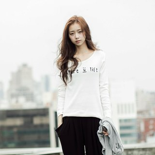 SUMI ♥ PURE_LIFE_ Love ♥ on the shoulders of female models fitted long-sleeved shirt _2AF010_5 colors
