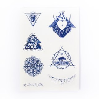LAZY DUO Artistic Spiritual Realistic Temporary Tattoo Stickers { SET 09 }