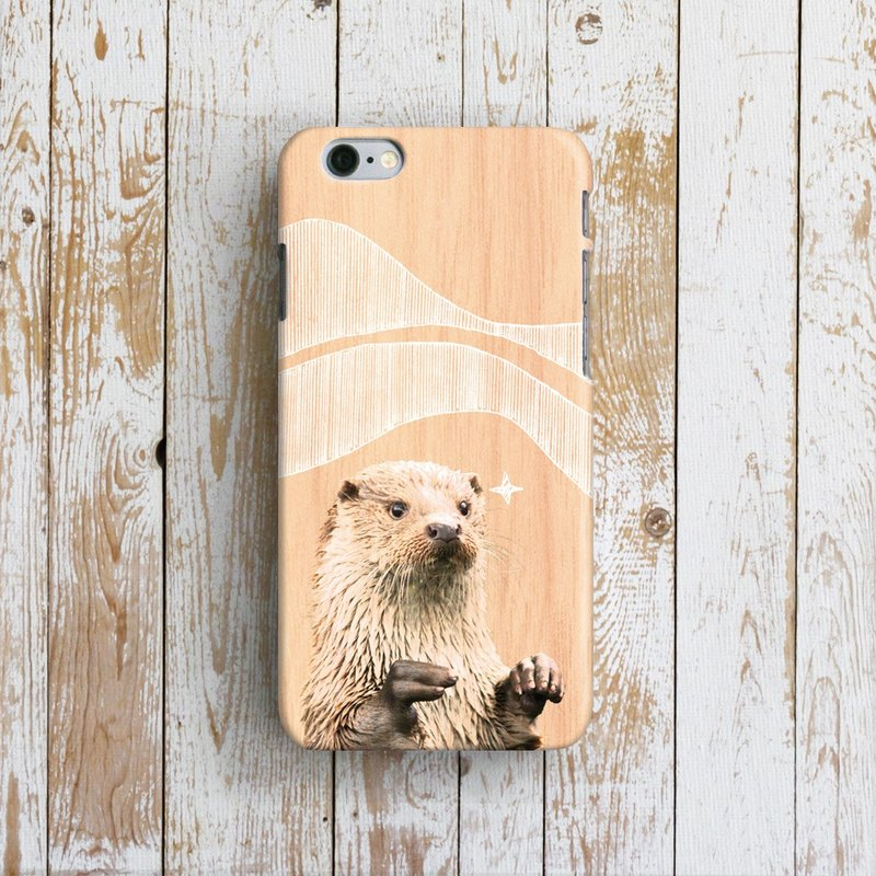 Cute Otter, - Designer iPhone Case. Pattern iPhone Case. One Little Forest