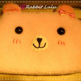 RABBIT LULU 【熊熊 化妝包 收納包 筆袋】創意市集 手創