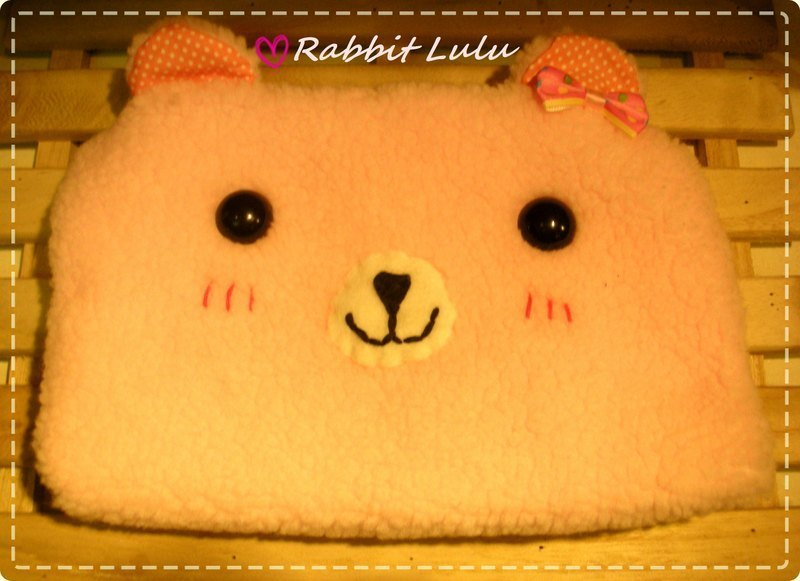 RABBIT LULU [Bear Bear Cosmetic Bag Storage Bag Pen Bag] Creative Market Handmade