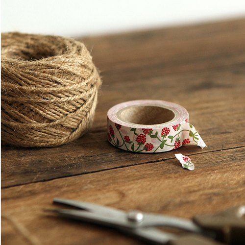 Dailylike single roll of paper tape 24 - raspberry, E2D38551