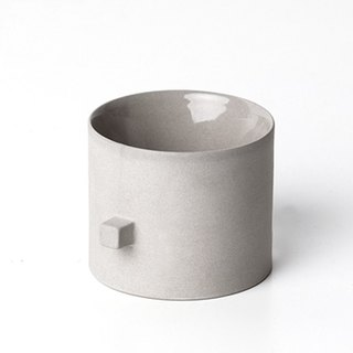 Round square-cup (with double wall)