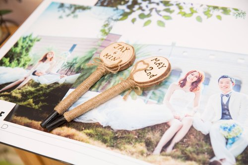 Signature pen Rustic Style custom name wedding date