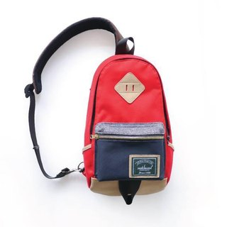 Matchwood Design Matchwood Infantry pig nose shoulder bag backpack shoulder bag shoulder bag red and blue models