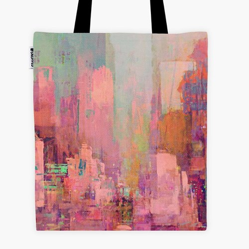 Filament - Canvas Bag - Pink city