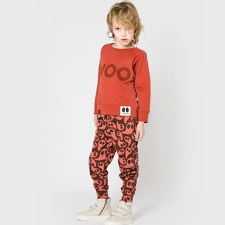 [Nordic design] 100% organic cotton elf street pants orange red 6M-8Y