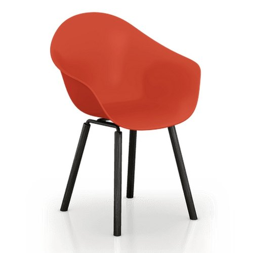 TOOU ArmShell Chair with black oak legs (red)