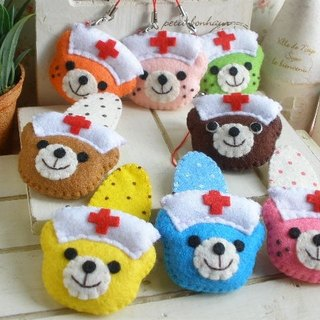 """Mini Bear Hand"" Little Nurse QQ Bear Series Hair Accessories / Charm"