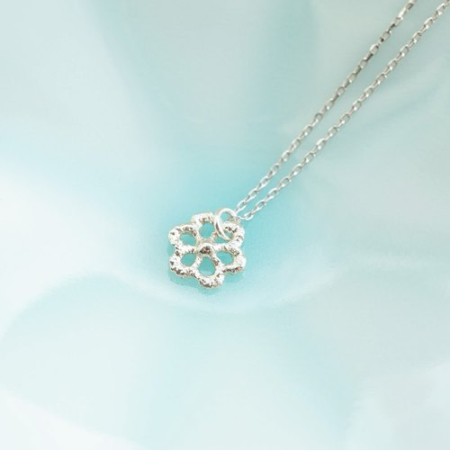 Lace Daisy Sterling Silver Necklace
