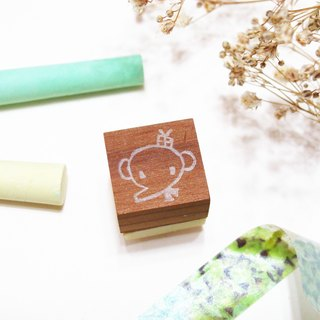 [Stock goods] handmade rubber stamp - Living stamp (R)