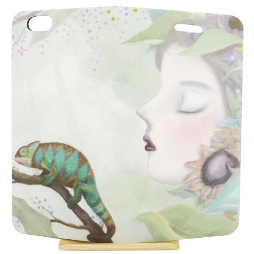 "Painted love series - Chameleon -tinting Lin Wenting ""iPhone / Samsung / HTC / LG / Sony / millet"" mobile phone holster (magnetic / White)"