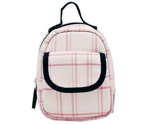 SOLIS [ Old Master Series ] Premium Purse Bag /Waist Bag(pink/white line)
