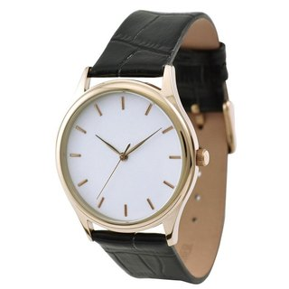 Rose Gold Watch with rose gold indexes in white face