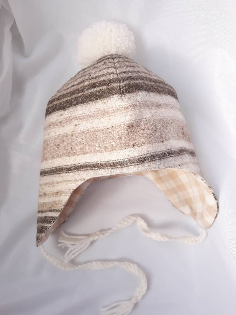 Nuts striped infant flight hat